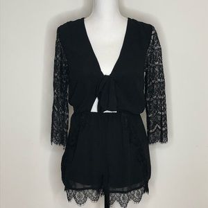 Forever 21 Lace Detailed Romper